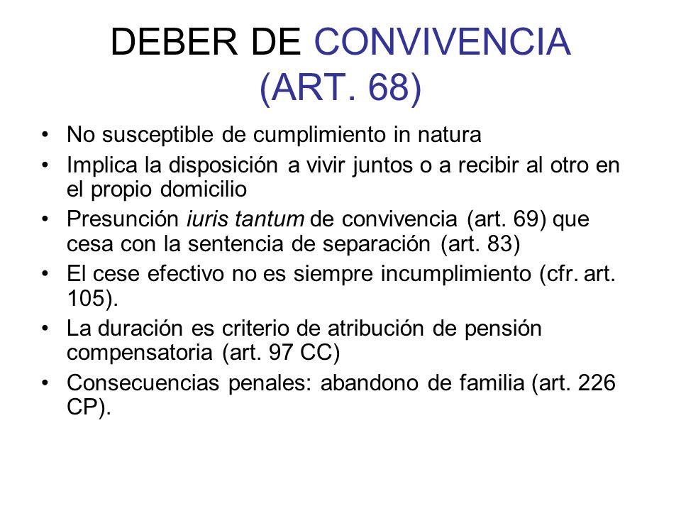 DEBER DE CONVIVENCIA (ART. 68)
