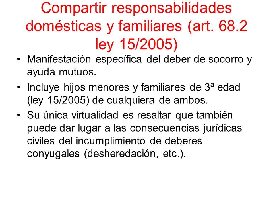 Compartir responsabilidades domésticas y familiares (art. 68