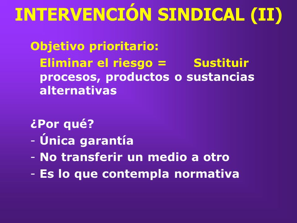INTERVENCIÓN SINDICAL (II)