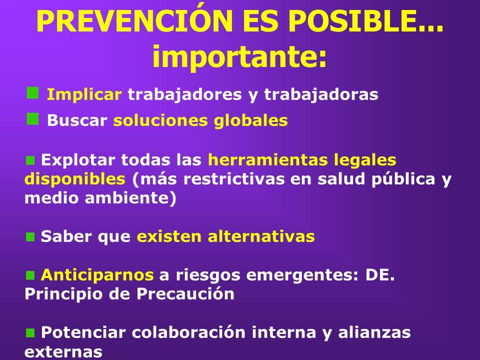 PREVENCIÓN ES POSIBLE... importante: