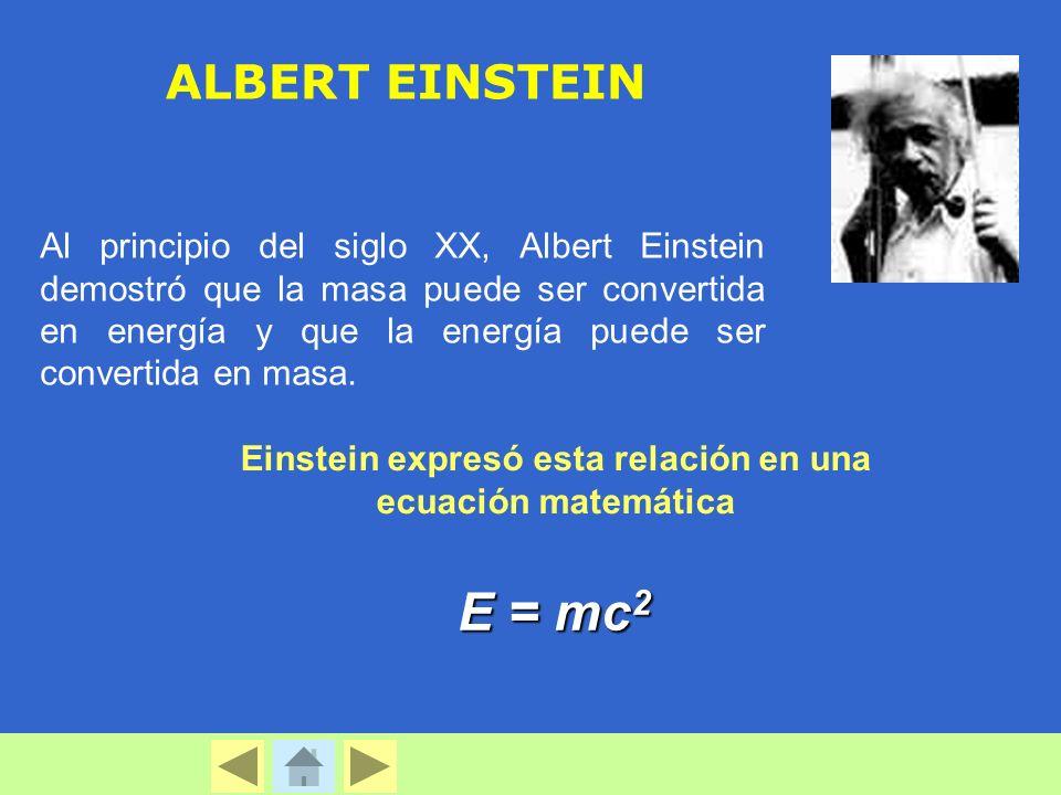 Einstein expresó esta relación en una