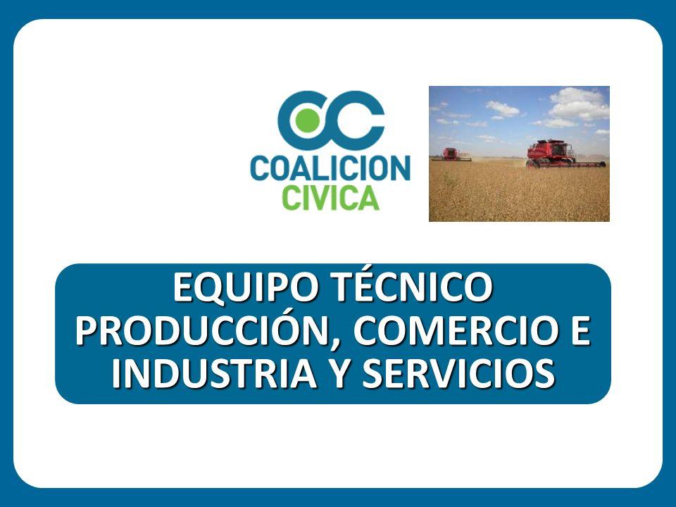 PRODUCCIÓN, COMERCIO E INDUSTRIA Y SERVICIOS