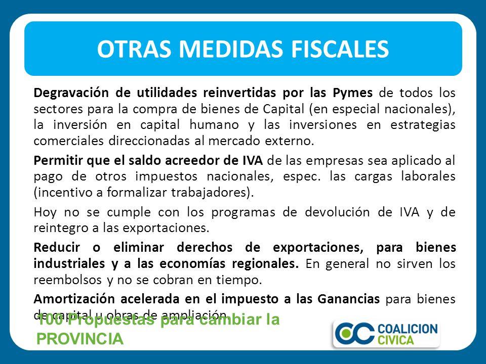 OTRAS MEDIDAS FISCALES