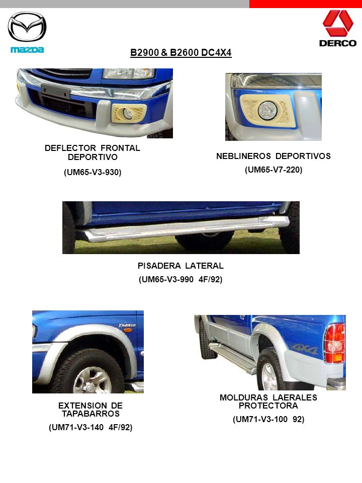 B2900 & B2600 DC4X4 DEFLECTOR FRONTAL DEPORTIVO (UM65-V3-930)