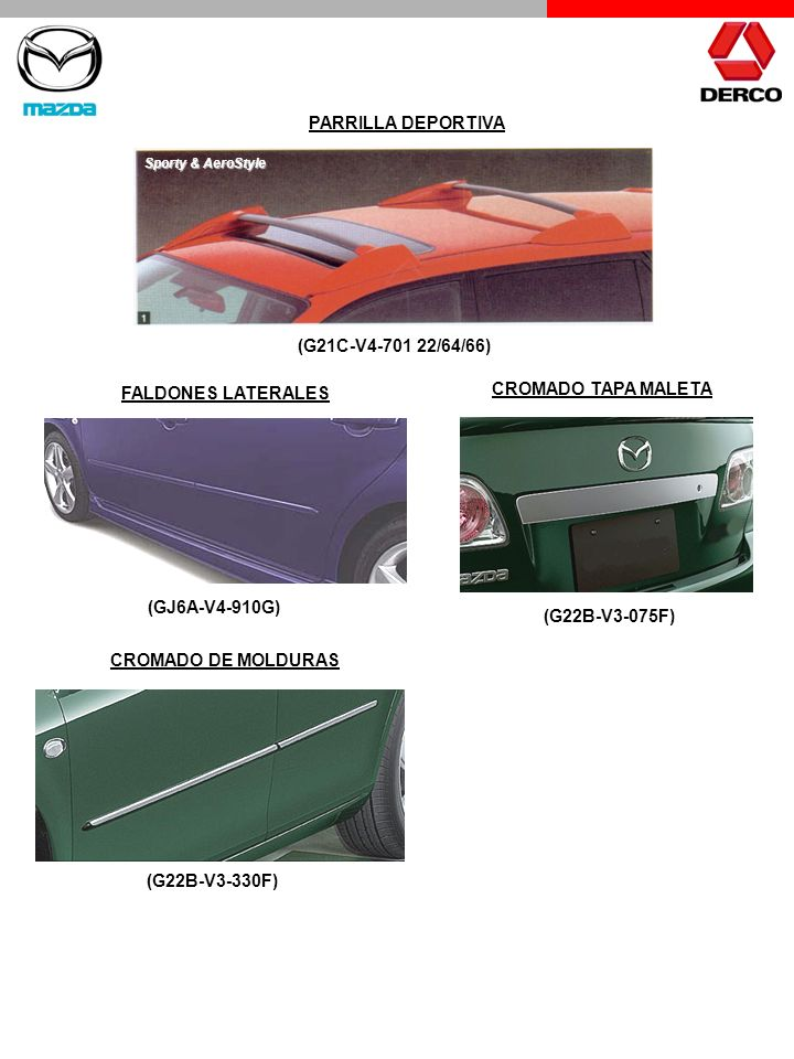 PARRILLA DEPORTIVA (G21C-V4-701 22/64/66) CROMADO TAPA MALETA