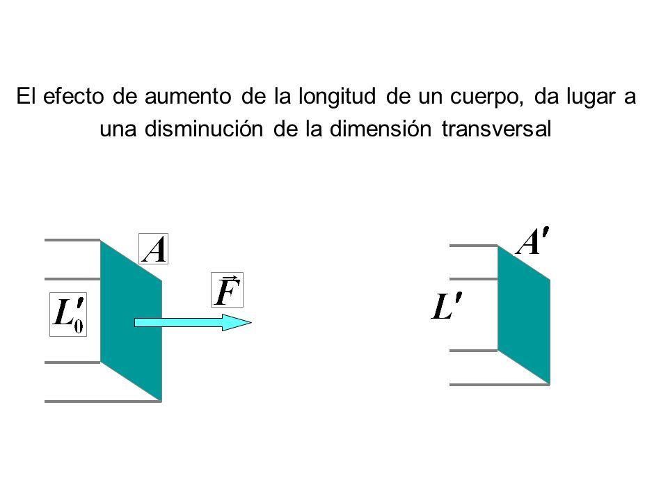 El efecto de aumento de la longitud de un cuerpo, da lugar a una disminución de la dimensión transversal