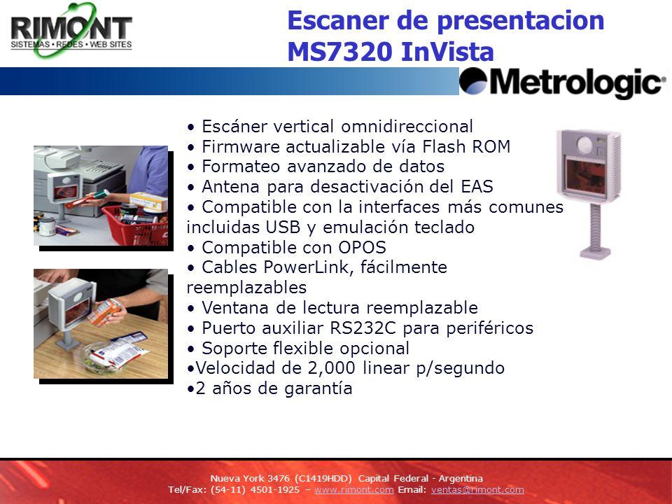 Escaner de presentacion MS7320 InVista