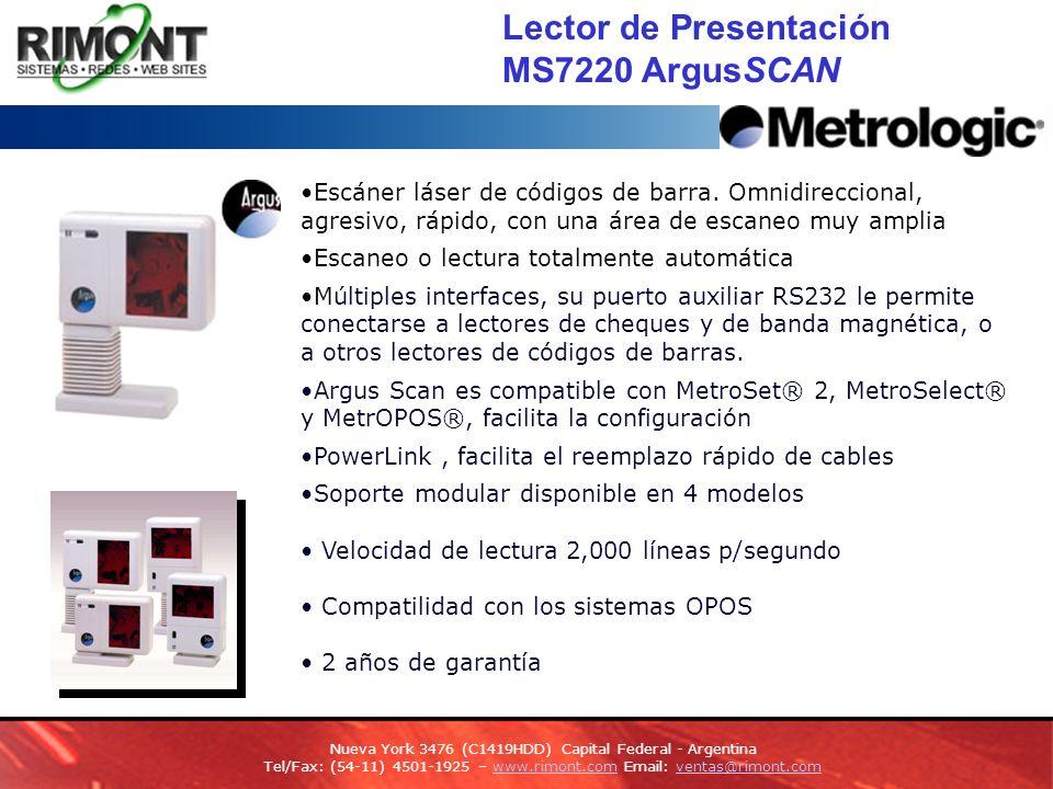 Lector de Presentación MS7220 ArgusSCAN