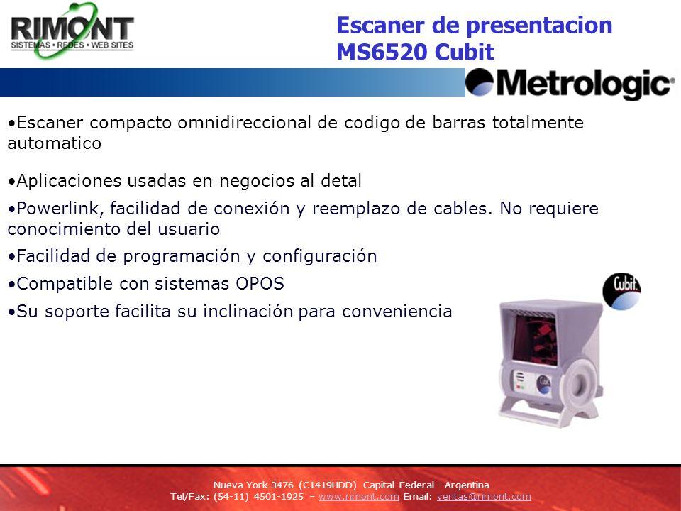 Escaner de presentacion MS6520 Cubit