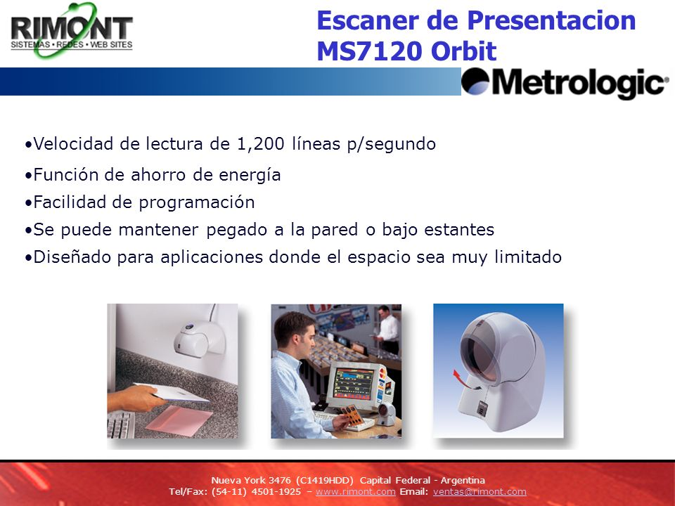 Escaner de Presentacion MS7120 Orbit