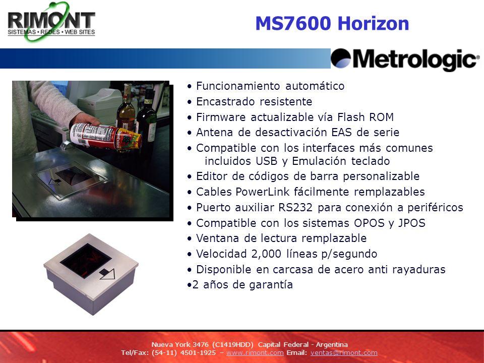 MS7600 Horizon • Funcionamiento automático • Encastrado resistente