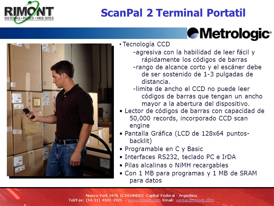 ScanPal 2 Terminal Portatil