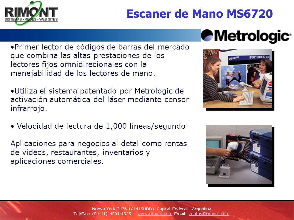 Escaner de Mano MS6720