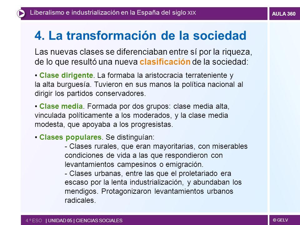 4. La transformación de la sociedad