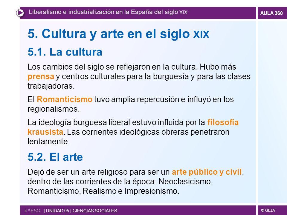 5. Cultura y arte en el siglo xix