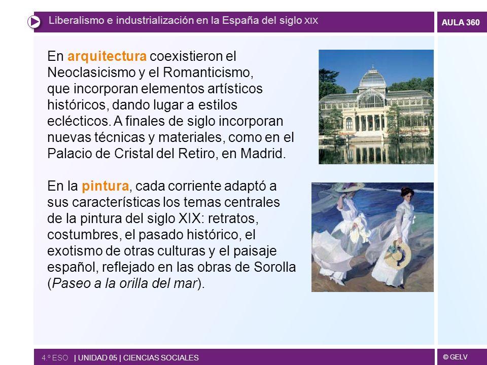 En arquitectura coexistieron el Neoclasicismo y el Romanticismo,