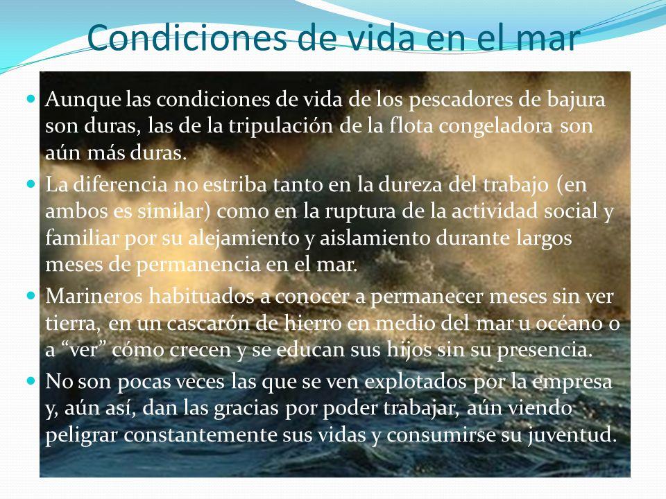 Condiciones de vida en el mar