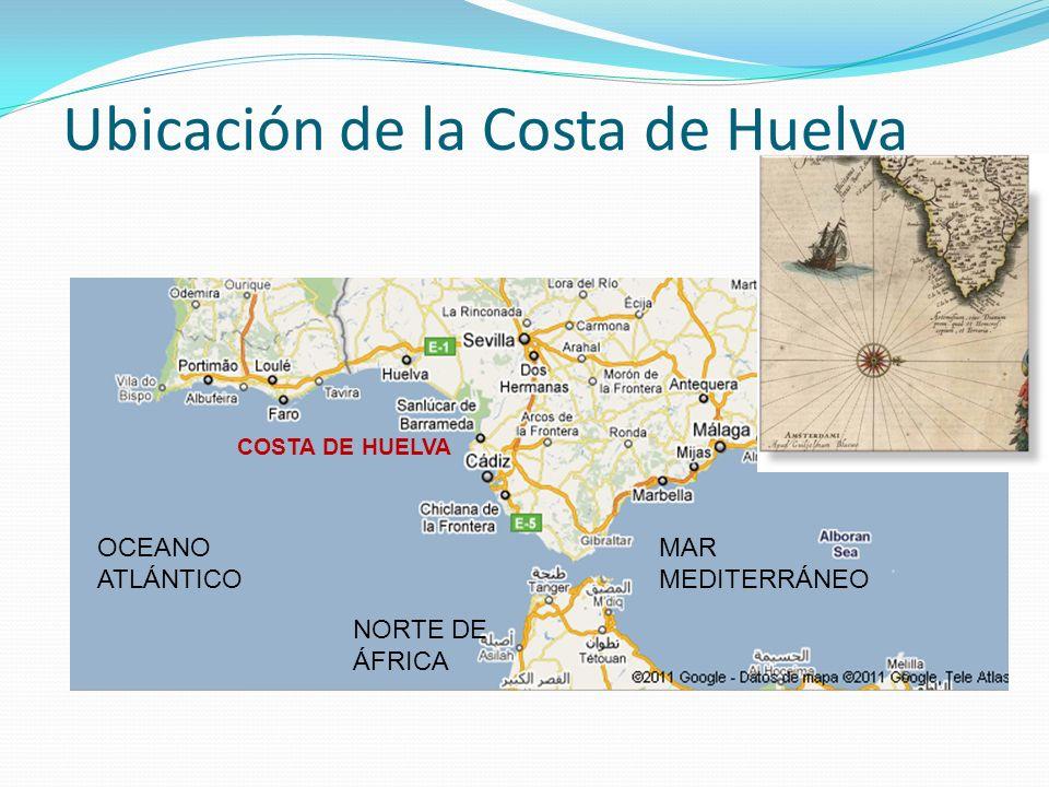 Ubicación de la Costa de Huelva
