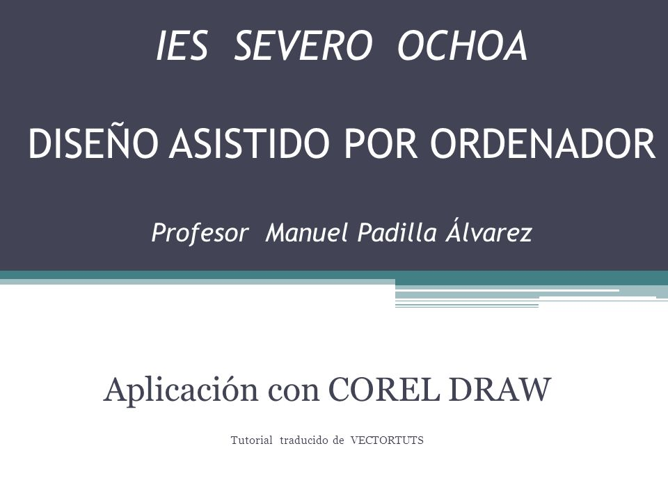 Aplicación con COREL DRAW Tutorial traducido de VECTORTUTS