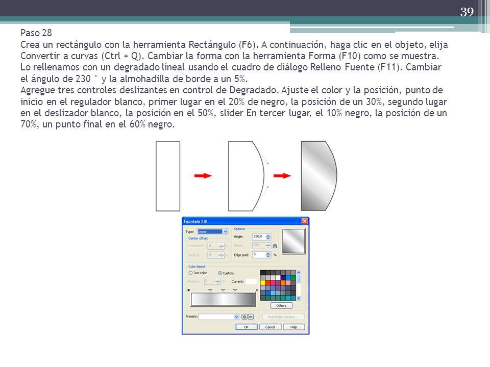 Paso 28 Crea un rectángulo con la herramienta Rectángulo (F6)