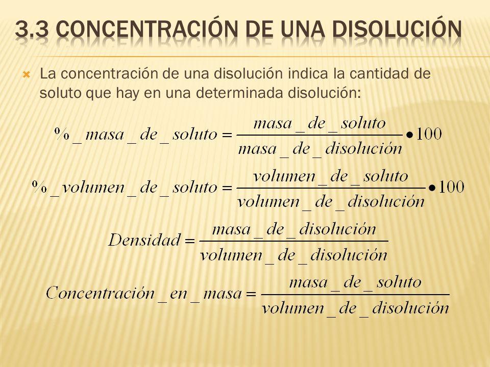 3.3 concentración de una disolución