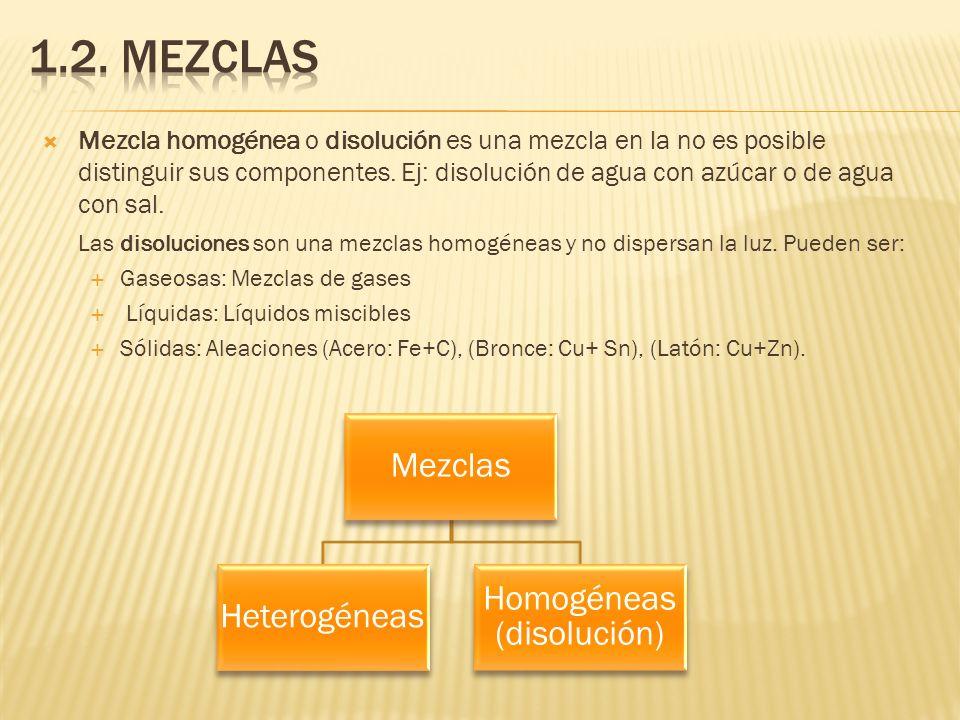 Homogéneas (disolución)