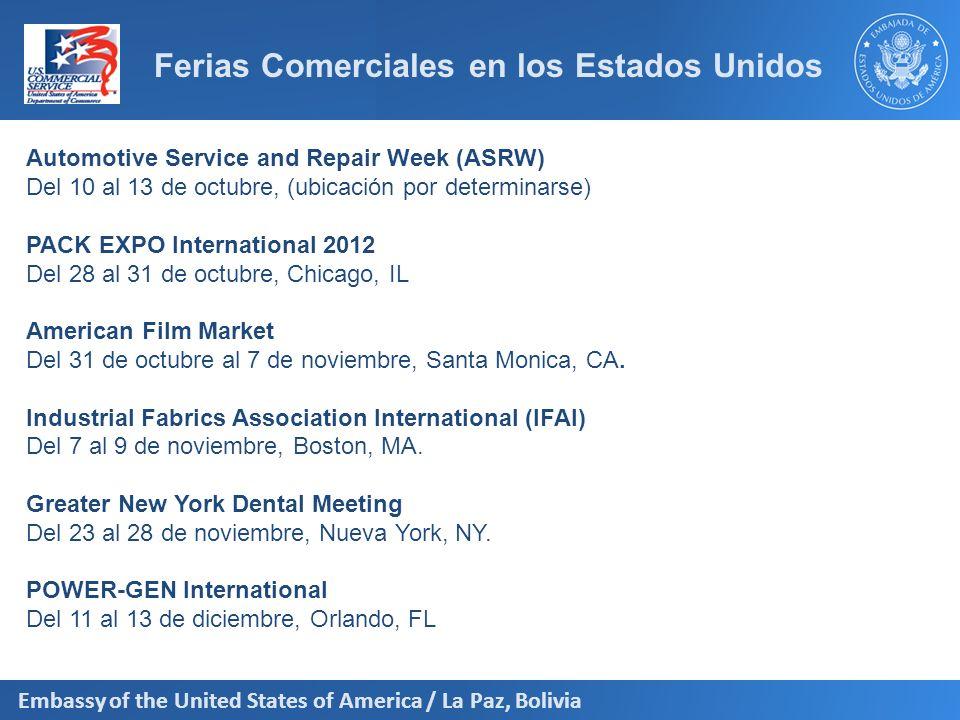 Ferias Comerciales en los Estados Unidos