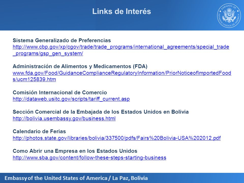 Links de Interés Sistema Generalizado de Preferencias