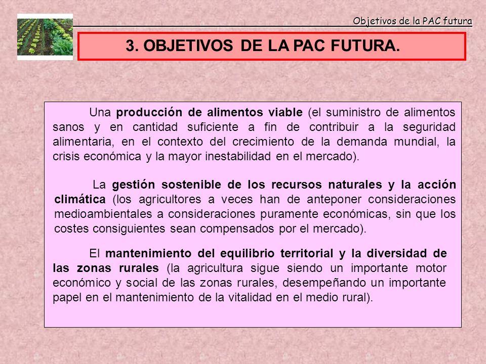 3. OBJETIVOS DE LA PAC FUTURA.