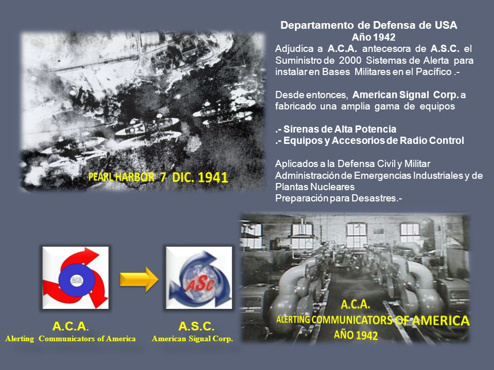 ALERTING COMMUNICATORS OF AMERICA AÑO 1942