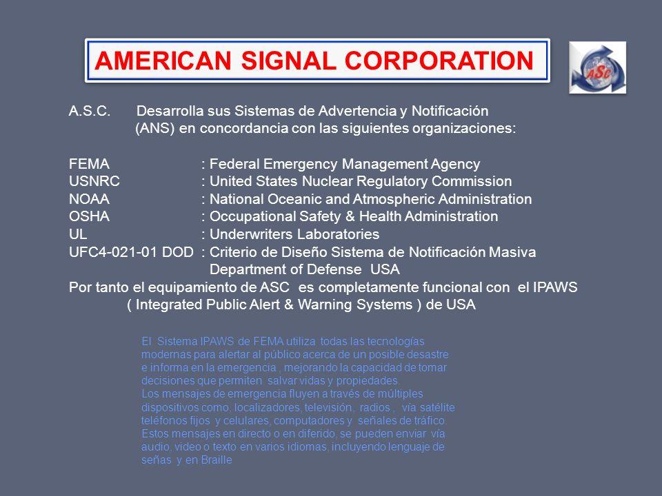 AMERICAN SIGNAL CORPORATION