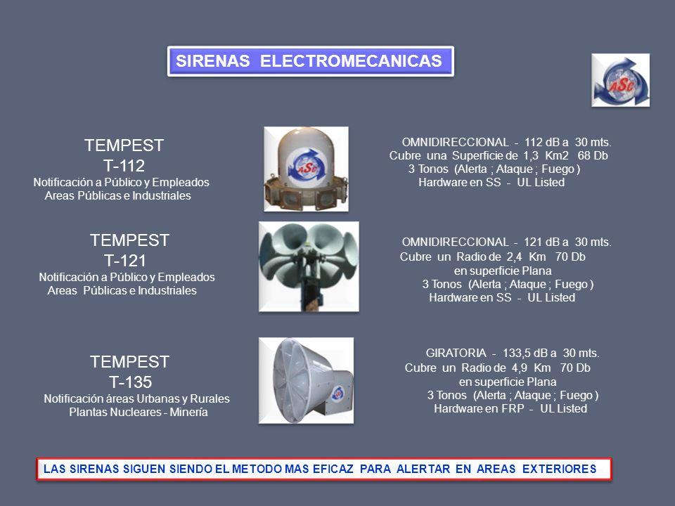 SIRENAS ELECTROMECANICAS