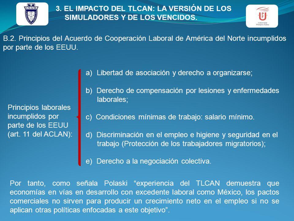 3. EL IMPACTO DEL TLCAN: LA VERSIÓN DE LOS SIMULADORES Y DE LOS VENCIDOS.