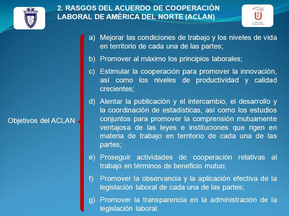 2. RASGOS DEL ACUERDO DE COOPERACIÓN LABORAL DE AMÉRICA DEL NORTE (ACLAN)
