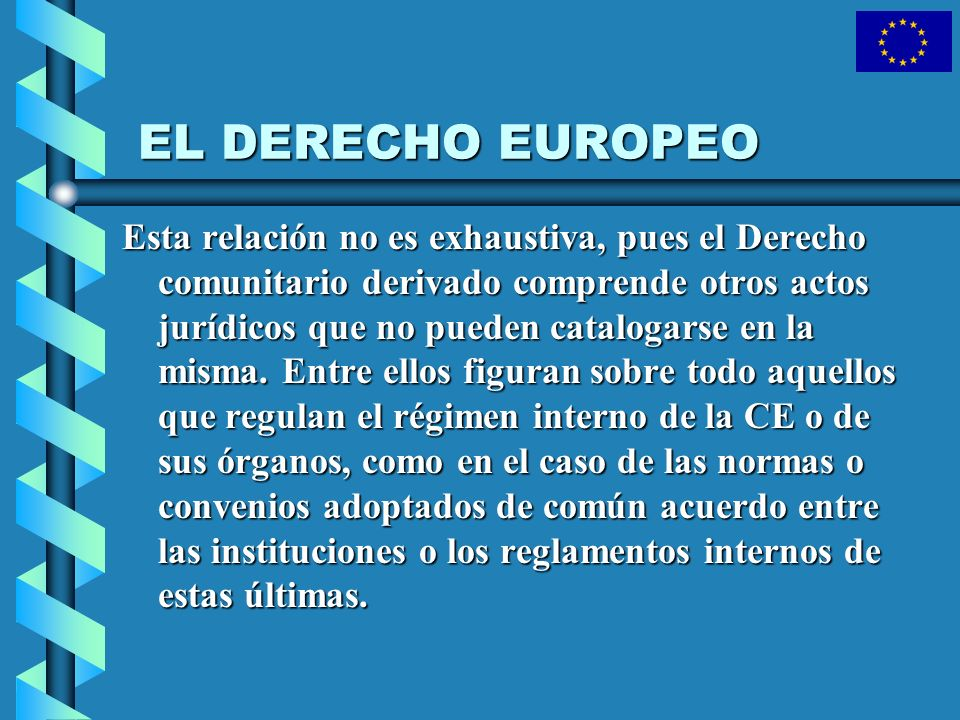 EL DERECHO EUROPEO