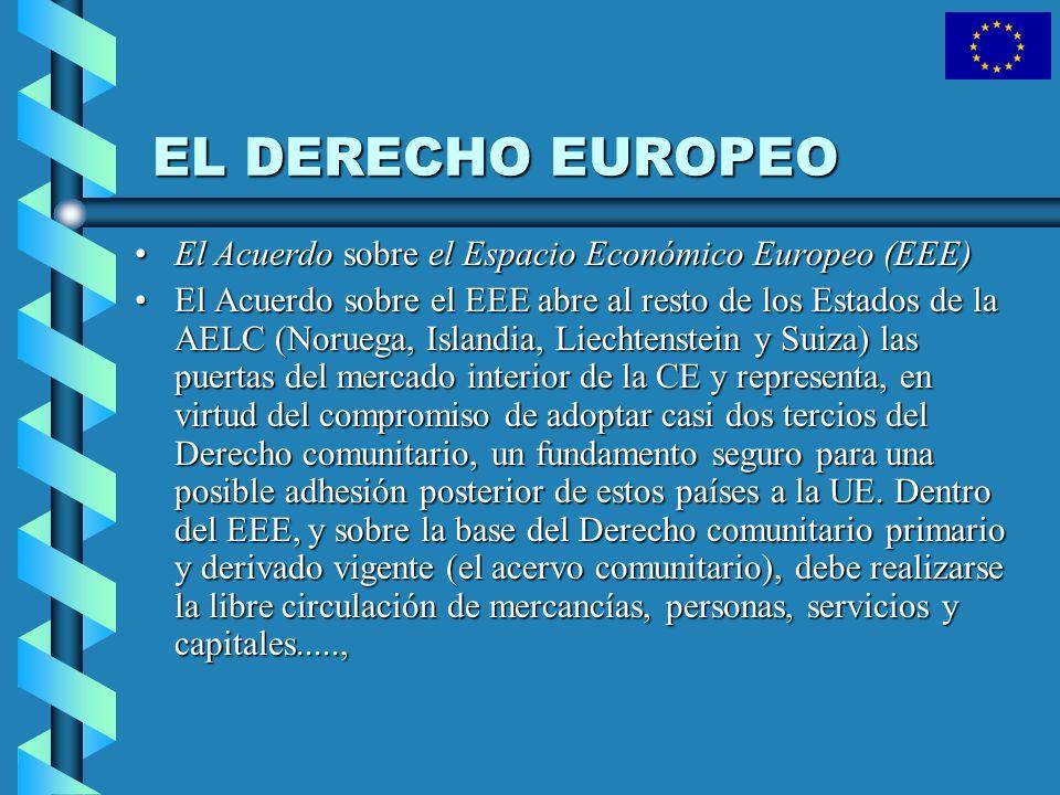 EL DERECHO EUROPEO El Acuerdo sobre el Espacio Económico Europeo (EEE)