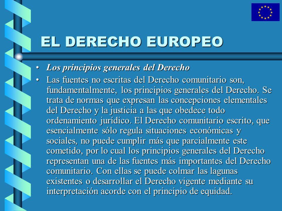 EL DERECHO EUROPEO Los principios generales del Derecho