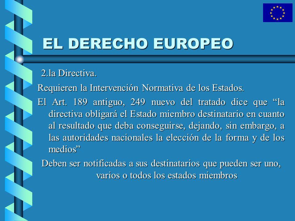 EL DERECHO EUROPEO 2.la Directiva.