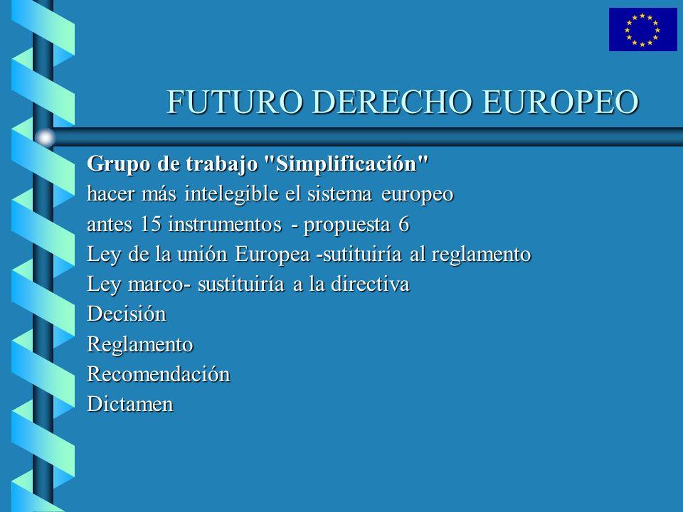 FUTURO DERECHO EUROPEO