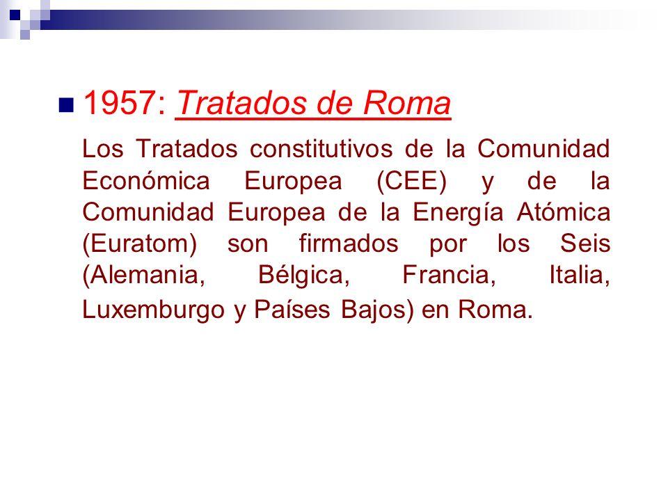 1957: Tratados de Roma