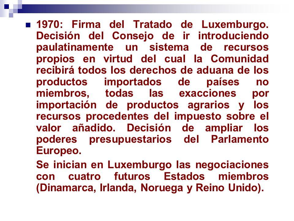 1970: Firma del Tratado de Luxemburgo