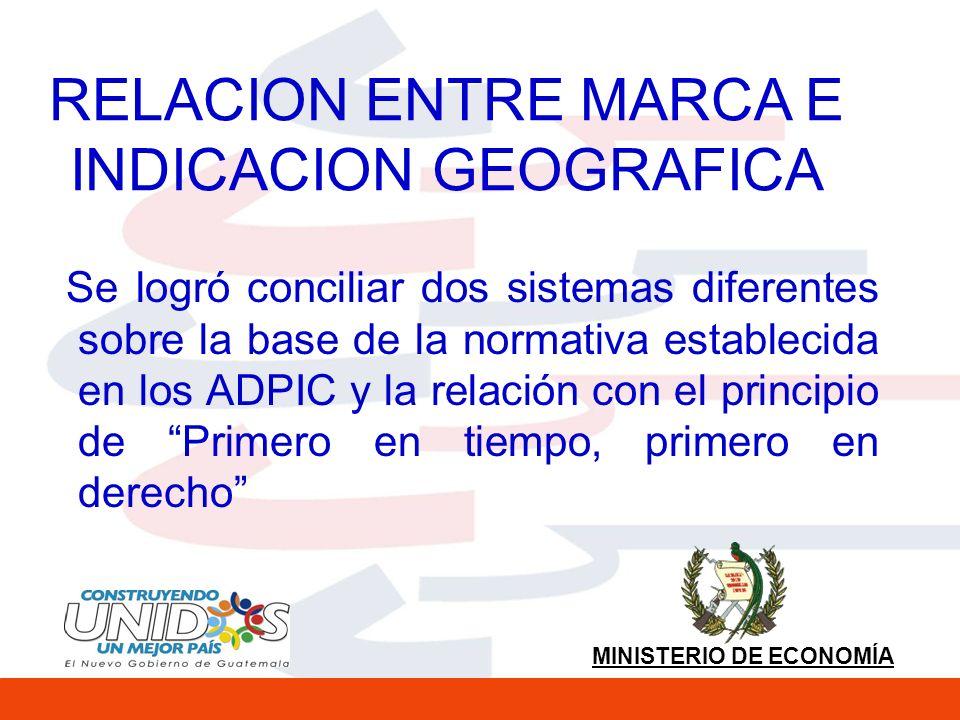 RELACION ENTRE MARCA E INDICACION GEOGRAFICA