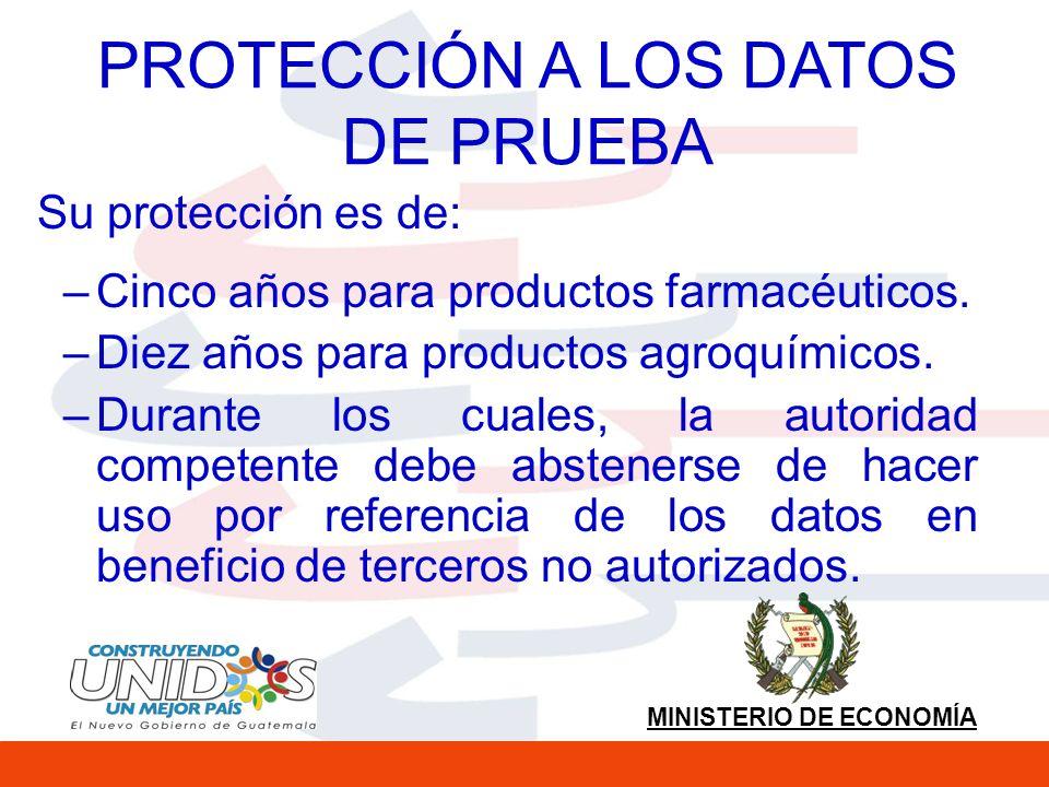 PROTECCIÓN A LOS DATOS DE PRUEBA