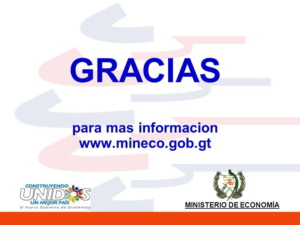 GRACIAS para mas informacion www.mineco.gob.gt