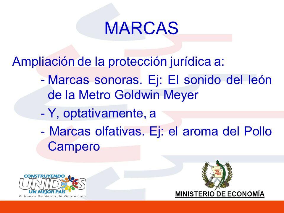 MARCAS Ampliación de la protección jurídica a: