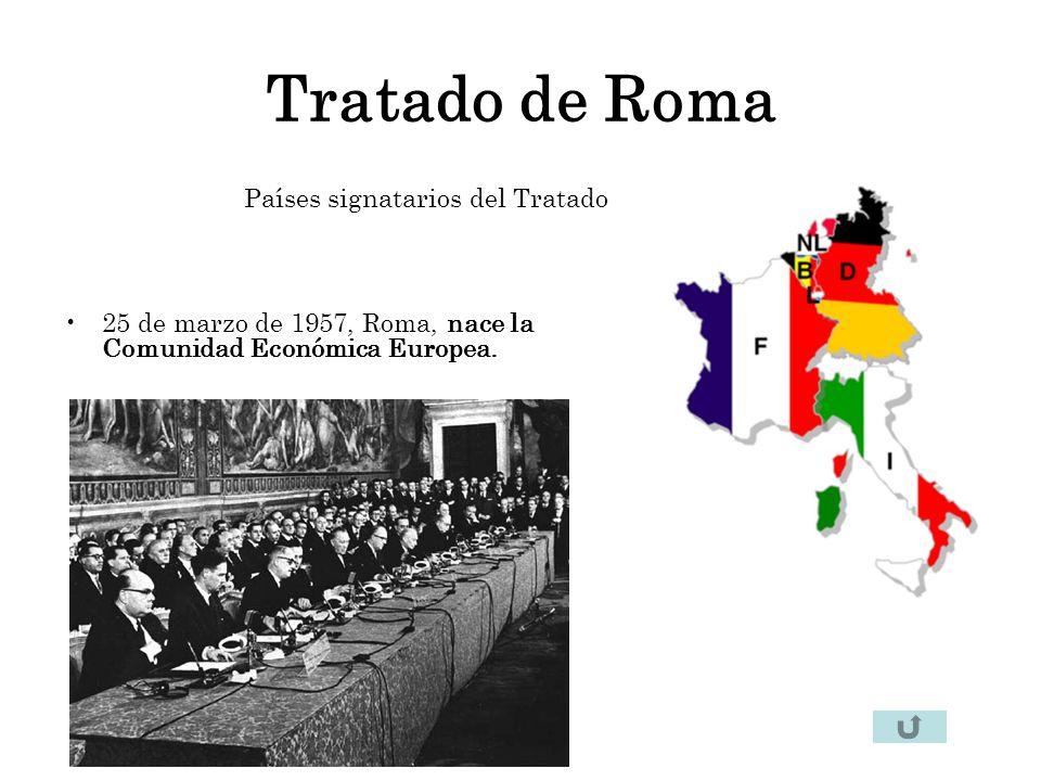 Tratado de Roma Países signatarios del Tratado
