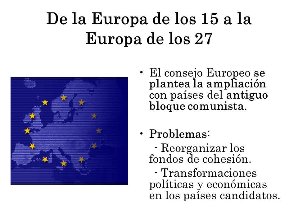 De la Europa de los 15 a la Europa de los 27
