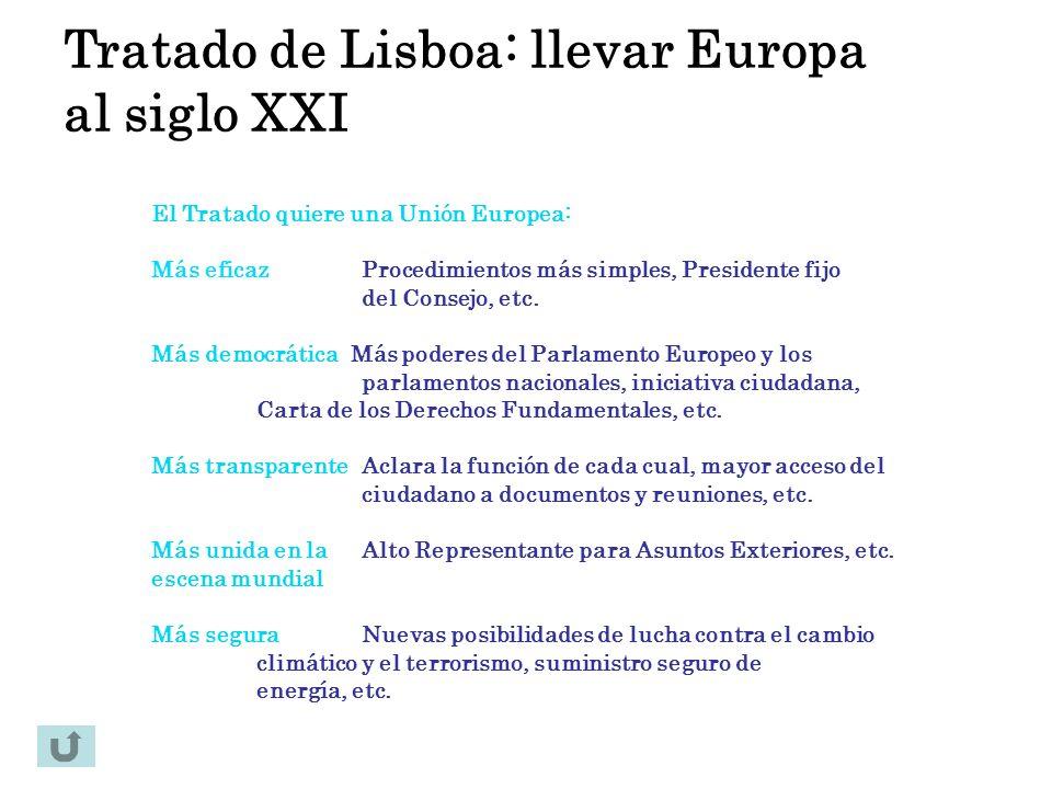 Tratado de Lisboa: llevar Europa al siglo XXI