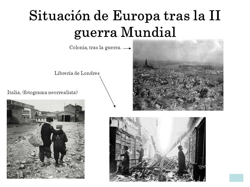 Situación de Europa tras la II guerra Mundial