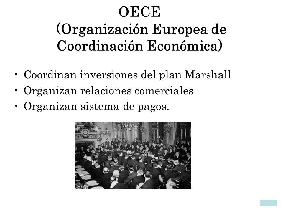 OECE (Organización Europea de Coordinación Económica)